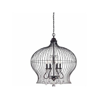 Savoy House Birdcage 6 Light Foyer Pendant