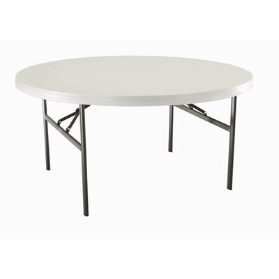"Lifetime 60"" Round Commercial Grade Table in Almond"
