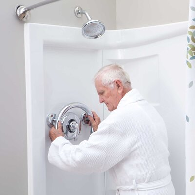 Lifetime Grabcessories 2-in-1 Shower Valve and Tub Spout Grab Ring