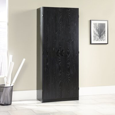 Sauder Storage Cabinet in Ebony Ash