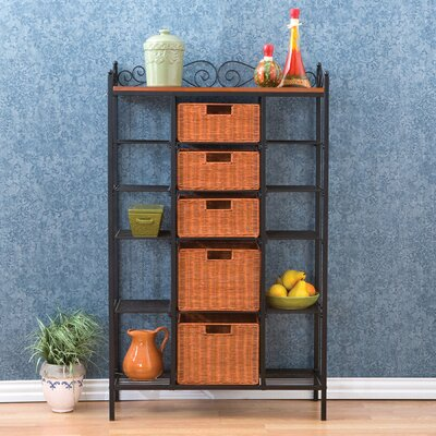 Wildon Home ® Walker Scrolled Kitchen Storage Baker's Rack