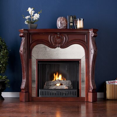 Wildon Home ® Rivington Mirrored Gel Fuel Fireplace