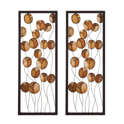 Wildon Home ® Autumn Abstract Wall Panel (Set of 2)