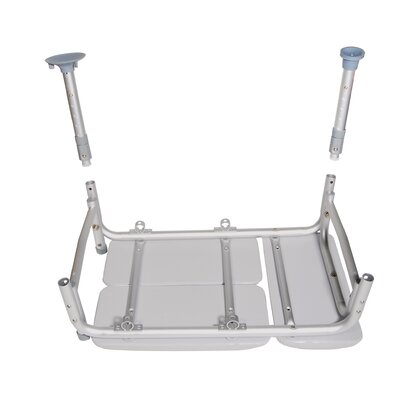 Drive Medical Combination Padded Seat Transfer Bench Commode
