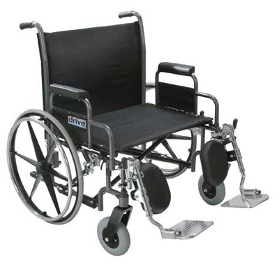 Sentra Heavy-Duty Extra Wide Dual Axle Wheelchair