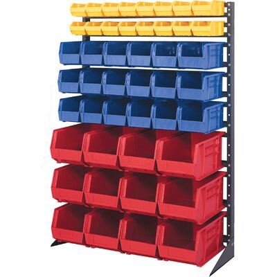 Quantum Storage Single Sided Steel Rail Rack with Various Bin Sizes (Complete Package)