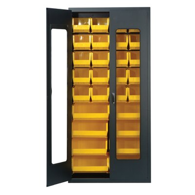 Quantum Storage Clear View Storage Cabinet with Ultra Size Bins