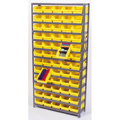 "Quantum Storage Economy Shelf Storage Units (75"" H x 36"" W x 18"" D) with Bins"
