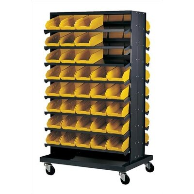 Quantum Storage Double Sided Pick Rack Systems with Various Euro Bins with Optional Mobile Kit