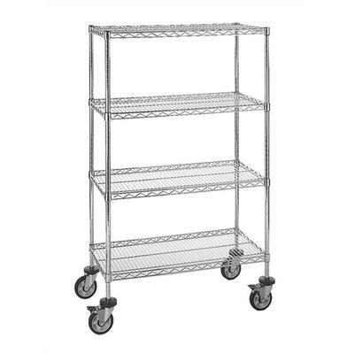 "Quantum Storage Small 63"" Q-Stor Chrome Wire Shelving (Starter Kit) with Optional Mobile Kit"