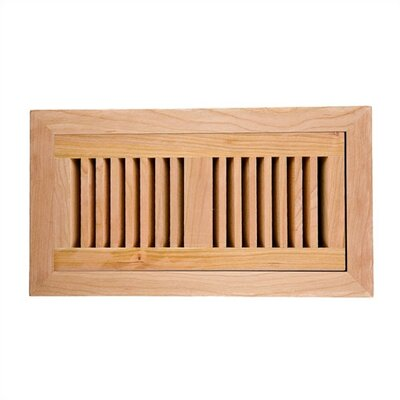 "Image Wood Vents 4"" x 10"" American Maple Flush Mount Vent Cover with Damper"