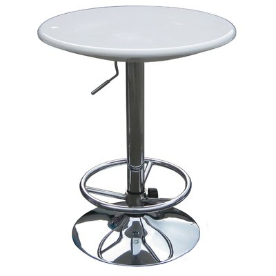 Boraam Industries Inc Luna Adjustable Pub Table in White