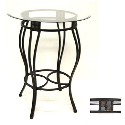 "Boraam Industries Inc 42"" Beau Pub Table in Black and Gold"