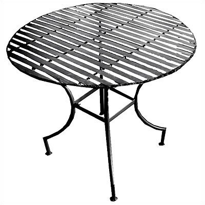 Pangaea Pangaea Easy to Assemble Iron Round Dining Table