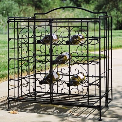 Pangaea Home and Garden Folding 15 Bottle Wine Rack