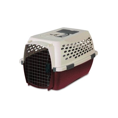 Petmate Kennel Cab Pet Carrier in Tan/Pomegranate