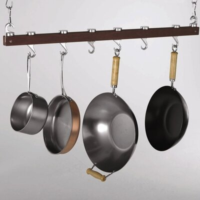 Concept Housewares Hanging Wood Pot Rack