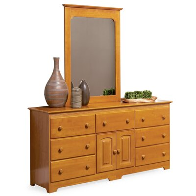 Atlantic Furniture Windsor 7 Drawer Combo Dresser with Portrait Mirror