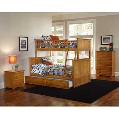 Atlantic Furniture Nantucket Bunk Bed with Trundle Bed