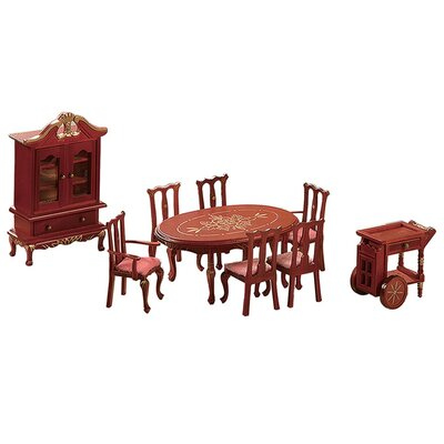 Teamson Kids 9 Piece Living Room Set for Dollhouse