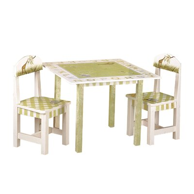 Teamson Kids Alphabet Kids 3 Piece Table and Chair 3 Piece Set