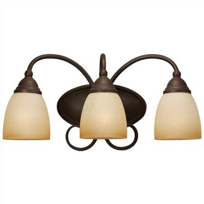 Sea Gull Lighting Montclaire  Wall Sconce Olde Iron with Glass Shade