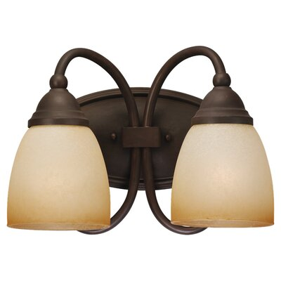Sea Gull Lighting Montclaire 2 Light Wall Sconce