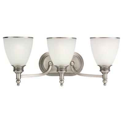 Sea Gull Lighting Laurel Leaf 3 Light Vanity Light