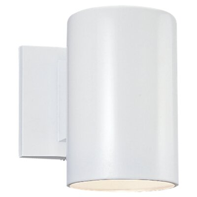 Sea Gull Lighting  White Outdoor Wall Sconce