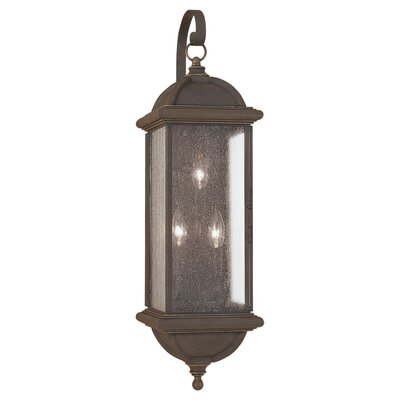 Sea Gull Lighting Charleston 3 Light Outdoor Wall Lantern