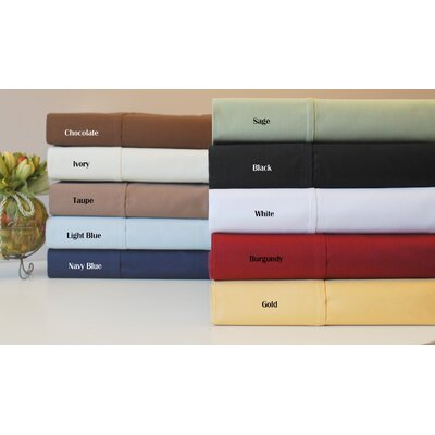 Simple Luxury 530 Thread Count Egyptian Cotton Solid Pillowcase Set