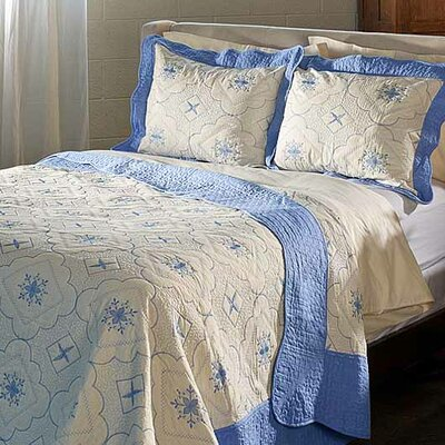 Embroidered Quilt Set