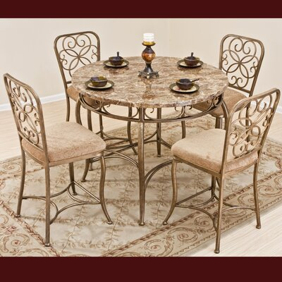 Vintage Garden 5 Piece Counter Height Dining Set