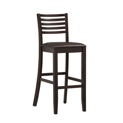 "Linon Triena 30"" Ladder Bar Stool in Rich Espresso"