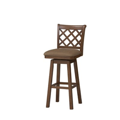 Sussex Swivel Bar Stool in Dark Oak