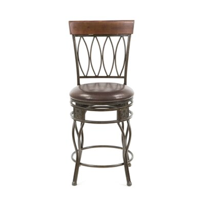 Linon Four Oval Back Counter Stool