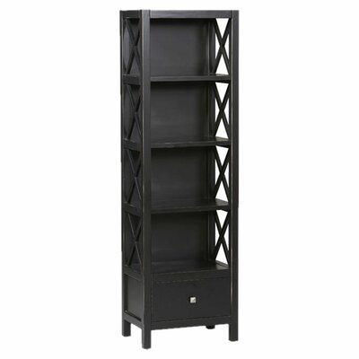 Linon Anna 5-Shelf Tall Bookcase