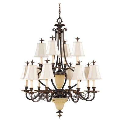 Tres Chic Belle Fleur 13 Light Chandelier