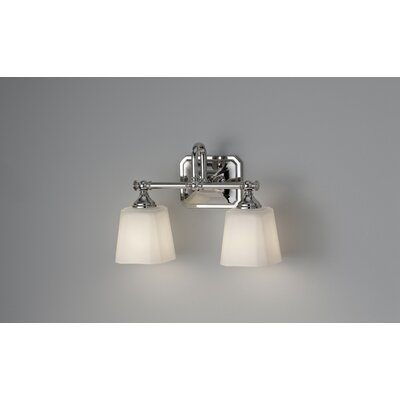 Feiss Concord Two Light Bath Vanity in Polished Nickel