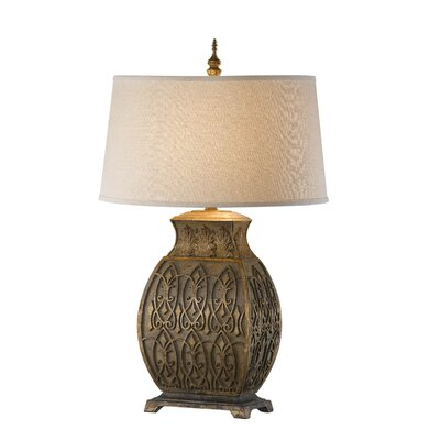 Feiss Covina One Light Table Lamp in Sandstone