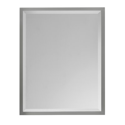 Halstad Mirror in Brushed Steel