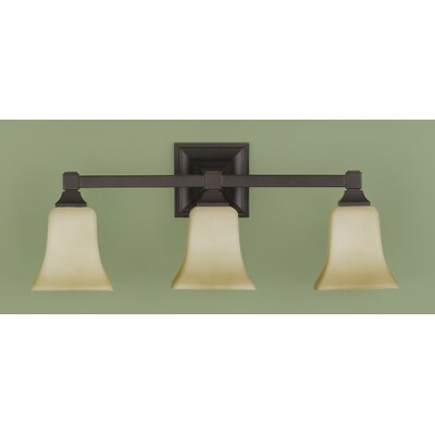 Feiss American Foursquare 3 Light Bath Vanity Light