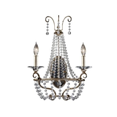 Feiss Dutchess Two Light Wall Sconce in Burnished Silver