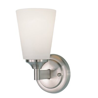 Feiss Paris Moderne  Wall Sconce Lamp in Brushed Steel