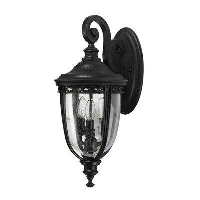 Feiss English Bridle Outdoor Wall Lantern in Black