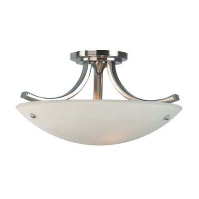 Feiss Gravity 3 Light Semi Flush Mount