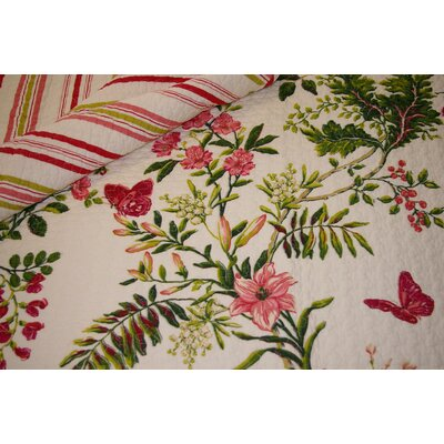 Greenland Home Fashions Butterfly Quilted Cotton Throw