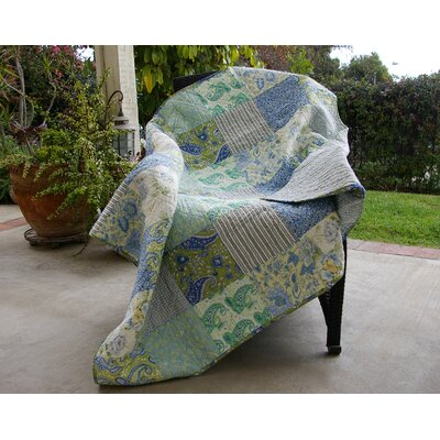 Vintage Jade Quilted Cotton Throw