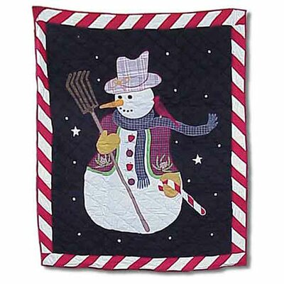 Patch Magic Frosty Snowman Cotton Throw Quilt