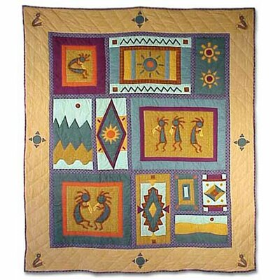 Patch Magic Kokoepelli Throw Quilt